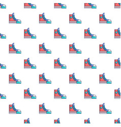 Sneakers hipster shoes pattern seamless vector