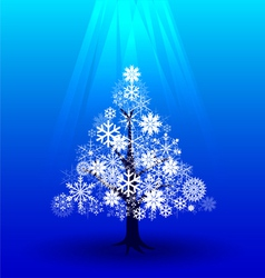 Snow Christmas tree under light vector image
