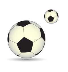 soccer and football ball real symbol eps10 vector image