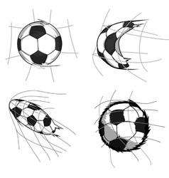 Soccer goal element vector