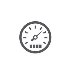 speedometer icon on white background vector image