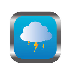 Square frame with relief and rain storm weather vector