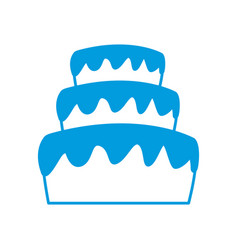 Stacked wedding cake dessert with frosting food vector
