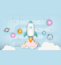 startup concept paper art vector image