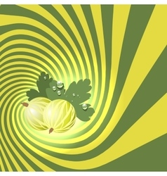 Striped spiral goosberry patisserie background vector image