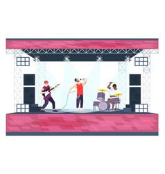 summer rock festival flat pop music vector image