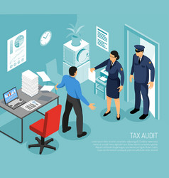 Tax audit isometric composition vector