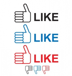 thumbs up like vector image