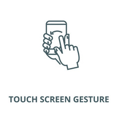 touch screen gesture line icon linear vector image