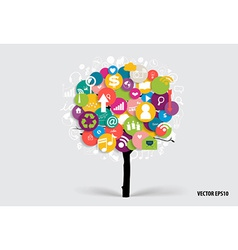 Tree with cloud of application vector