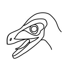 velociraptor icon doodle hand drawn or black vector image