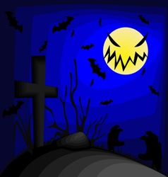 wallpaper halloween vector image