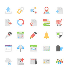 Web design flat colored icons 8 vector
