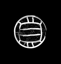 White grunge dotted water polo ball vector