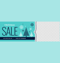 winter christmas sale banner with image space vector image