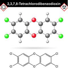 2378- Dibenzodioxin - widespread environmental vector image