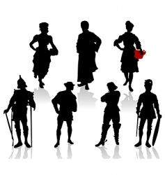 Actors in costumes 3 vector