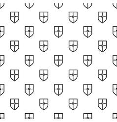 Heraldic shield pattern simple style vector image