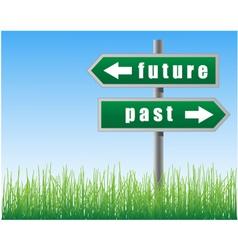 arrows future past vector image