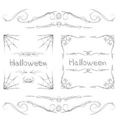 Halloween Frames vector image