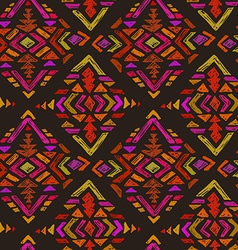 hand drawn seamless pattern with tribal abstract vector image vector image