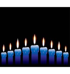 row of candles vector image vector image