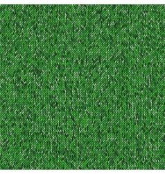 Seamless green knitting pattern Woolen cloth vector image vector image