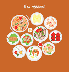bon appetit food vector image