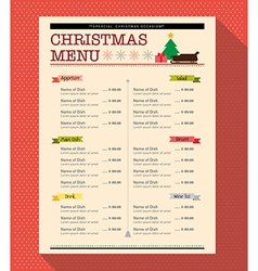 Christmas menu food and drink design template vector