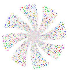 error fireworks swirl flower vector image
