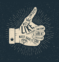 like hand vintage styled vector image