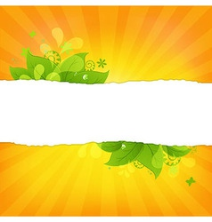 Natural background with leaves and beams vector