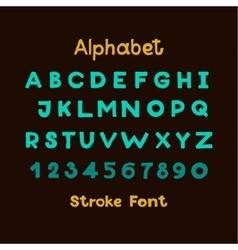 Alphabet English Sloppy Fat Stroke Font Letters vector image