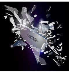 Broken glass design vector image