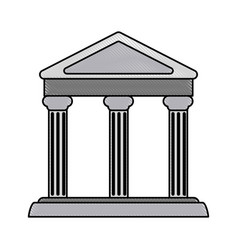 color blurred stripe parthenon architecture icon vector image