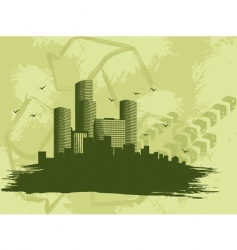grunge city banner vector image vector image