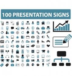 presentation icons vector image vector image