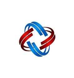 technology orbit circle abstract logo vector image vector image