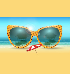 vacation summer concept vector image
