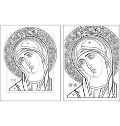 Virgin oplechnaya outline3 4 vector