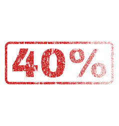 40 percent rubber stamp vector image
