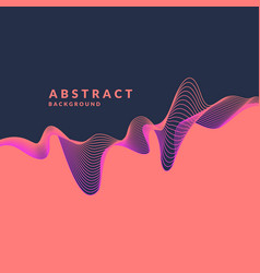 Abstract geometric background with dynamic waves vector