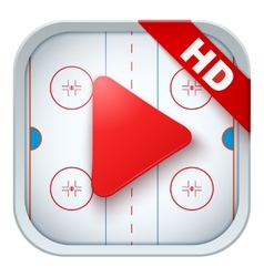 Application icon for live sports broadcasts or vector image
