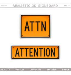 attention attn warning signs vector image