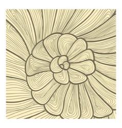 background pattern of stylized snail vector image