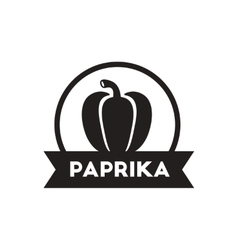 black icon on white background paprika vector image