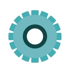 Blue silhouette gear wheel icon vector