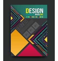 Brochure flyer magazine cover vector