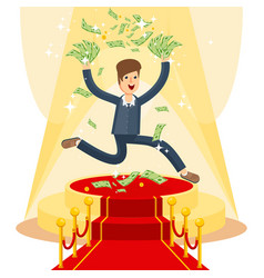 businessman on red carpet vector image