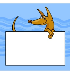 Cartoon dog with board or card vector